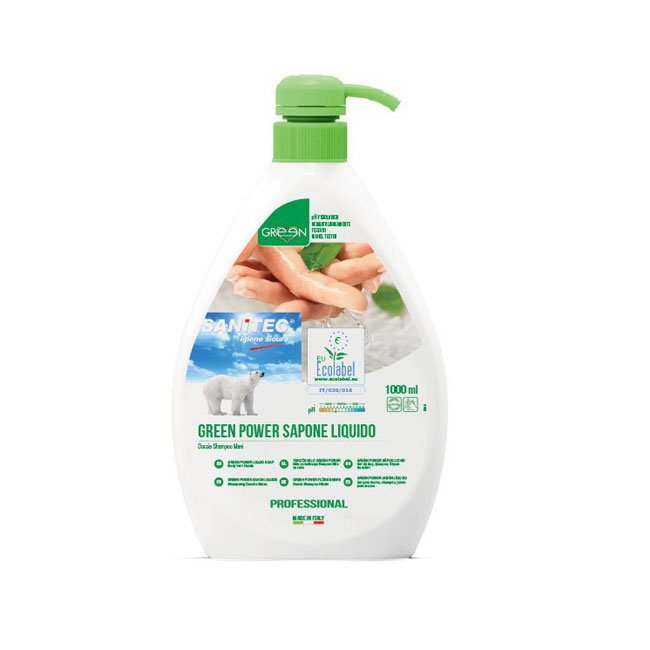 GREEN POWER SAPONE CORPO MANI ECOLABEL ML. 1000